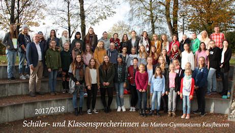 Schüler- und Klassensprecherinnen 2017/2018